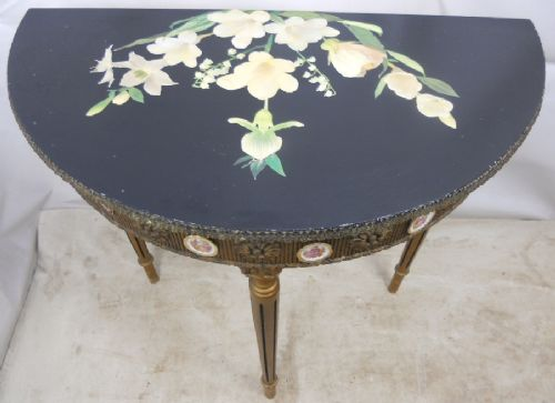 Gilt Decorated Console Table